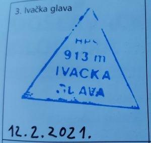 Vrh 3. Ivačka glava Žig Hrvatske Planinarske Obilaznice