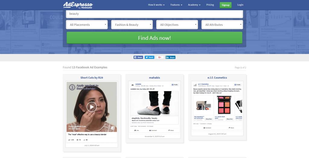 Find Niche Ideas - Step 5 - AdEspresso Facebook Ads