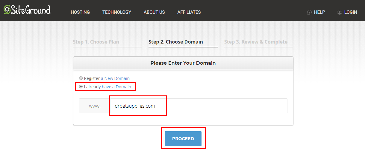 Hosting & Website With WordPress - I already have a Domain Option