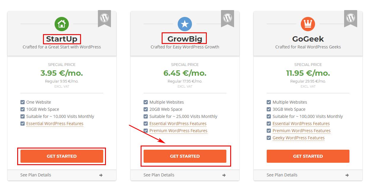 Hosting & Website With WordPress - Siteground Pick Plan
