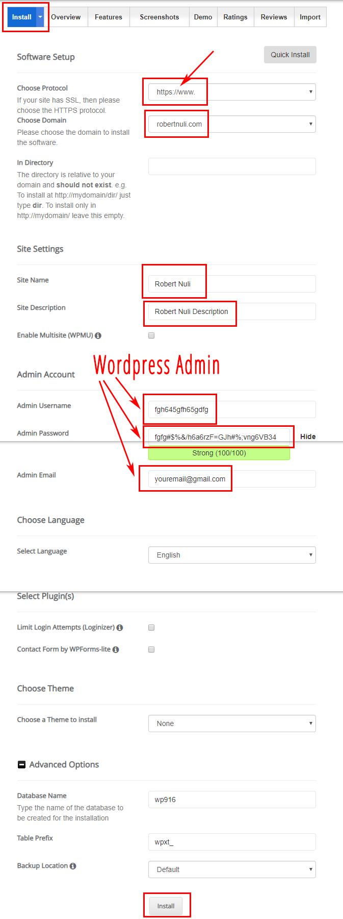 Hosting & Website With WordPress - Siteground WordPress Installer