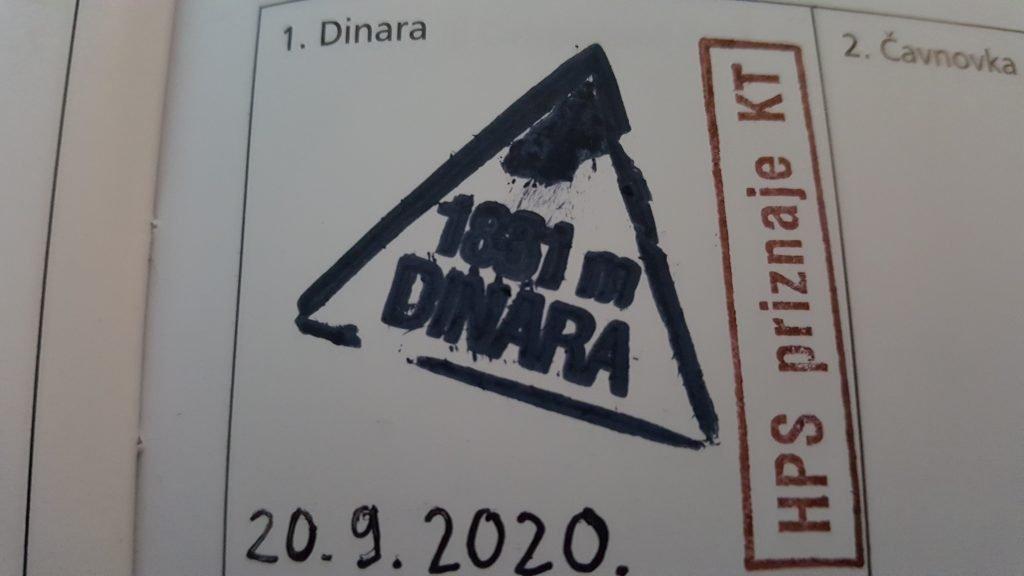 Vrh Sinjal Žig Hrvatske Planinarske Obilaznice