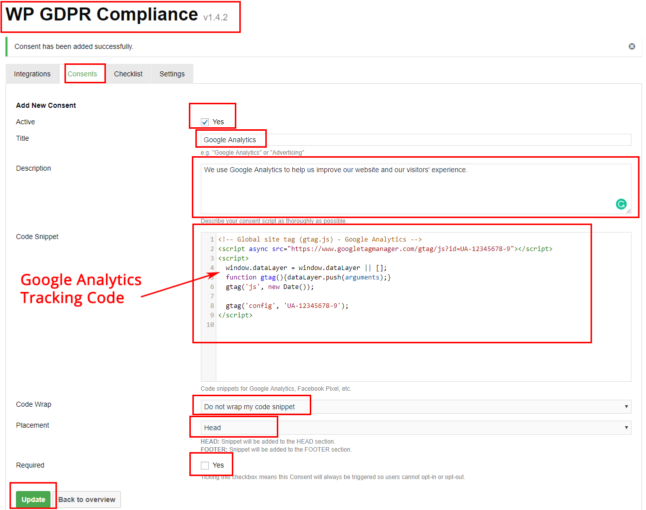 Wordpress Setup - WP GDPR Compliance and Google Analytics
